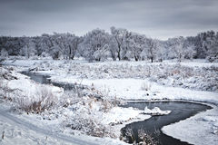 The freezing river Stock Photo