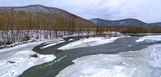 The freezing river Royalty Free Stock Image