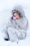 Freezing sleep Royalty Free Stock Photos