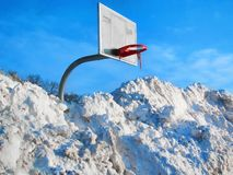 Freezing snow winter weather temperature sports Stock Photography