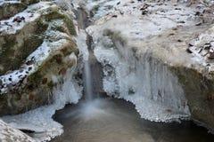 Freezing stream Stock Image