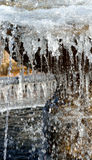 Freezing water. Early chill - freezing fountain water Stock Image
