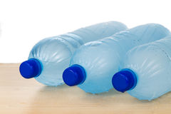 Freezing water in PET plastic bottle deemed an unhealthy practic Stock Photos