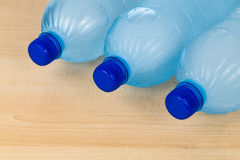 Freezing water in PET plastic bottle deemed an unhealthy practic Royalty Free Stock Photography