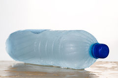 Freezing water in PET plastic bottle deemed an unhealthy practic Royalty Free Stock Images
