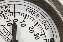 Freezing Zone Thermometer Macro Detail Stock Image