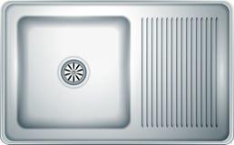 Fregadero de cocina Imagen de archivo libre de regalías
