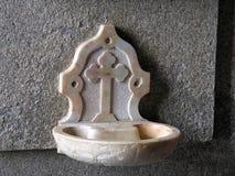 Fregadero del agua santa Foto de archivo libre de regalías