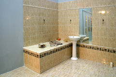 Fregadero del cuarto de baño Imagen de archivo libre de regalías