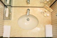 Fregadero del hotel Imagen de archivo libre de regalías