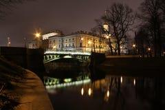 Fregadero del río, castillo de Mikhailovsky, St Petersburg, R Fotografía de archivo libre de regalías