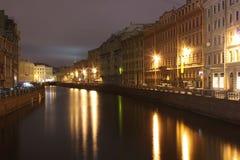 Fregadero del río, perspectiva de Nevsky, St Petersburg, Russi Fotos de archivo