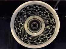 Fregadero negro de la flor Imagen de archivo
