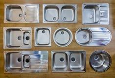 Fregaderos de cocina Fotografía de archivo libre de regalías
