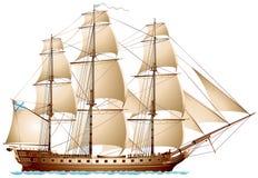 Fregat varend oorlogsschip Royalty-vrije Stock Fotografie