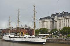 Fregata Sarmiento del museo della barca Fotografie Stock