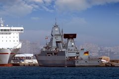 Nave di guerra tedesca Immagine Stock Libera da Diritti