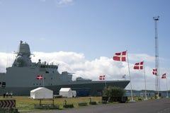 Fregatt i Fredericia Royaltyfria Foton