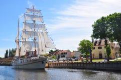 Fregatte Meridianas in Klaipeda Stockfotografie