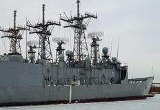Fregatten USS Klakring Decommissioned Arkivbilder