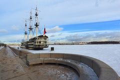 Fregaty ` graci ` Neva Rzeka Petersburg Fotografia Royalty Free