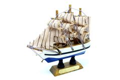 fregaty modela statek Zdjęcia Royalty Free