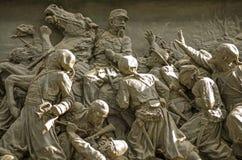 Fregio dal monumento di Victor Emmanuel II, Venezia Fotografia Stock