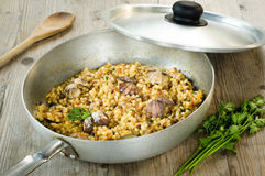 Fregola with clams Royalty Free Stock Photography