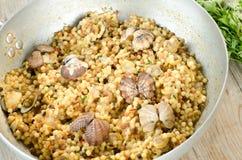 Fregola с clams Стоковые Фотографии RF