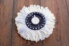 Fregona blanca Foto de archivo libre de regalías