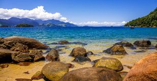 Freguesia de Santana, the island near Rio de Angra. BRAZIL. royalty free stock photography