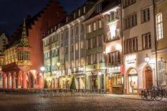 Freiburg τη νύχτα Στοκ εικόνα με δικαίωμα ελεύθερης χρήσης