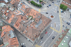 Freiburg Bird Eye View Stock Photos