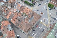 Freiburg Bird Eye View. On roundabout Stock Photos