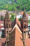 Freiburg domkyrka, Tyskland Arkivbild