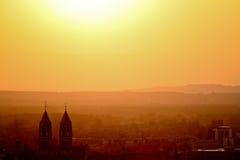 Freiburg en puesta del sol Fotos de archivo