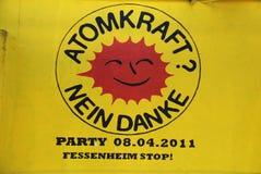 Freiburg gegen Fessenheim Kernkraftwerk Lizenzfreie Stockfotos