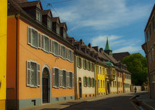 Freiburg i Breisgau, Tyskland - gata Arkivbild