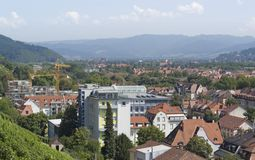 Freiburg im Breisgau aerial view Royalty Free Stock Photo