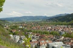 Freiburg im Breisgau, Tyskland - flyg- sikt över staden Royaltyfria Bilder