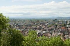 Freiburg im Breisgau, Tyskland - flyg- sikt över staden Arkivbild
