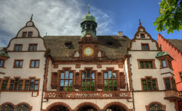 Freiburg im Breisgau, Tyskland - gammalt stadshus Royaltyfria Bilder