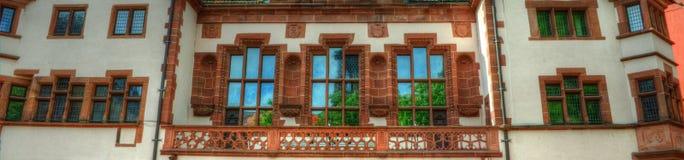 Freiburg im Breisgau, Tyskland - gammalt stadshus Fotografering för Bildbyråer