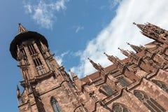Freiburg-Kathedrale, Deutschland Stockfotografie