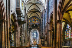 Freiburg Minster, Freiburg im Breisgau, Germany. Freiburg Minster is the cathedral of Freiburg im Breisgau, Germany. Interior Royalty Free Stock Photos