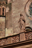 Freiburg Minster, a medieval church in the city of Freiburg, at the edge of the Black Forest, Germany. World famous Freiburg Minster cathedral, a medieval church Stock Photos