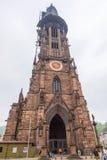 Freiburg Munster domkyrka, Freiburg im Breisgau stad, Tyskland Royaltyfri Foto