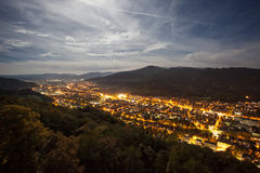 Freiburg at night Stock Images