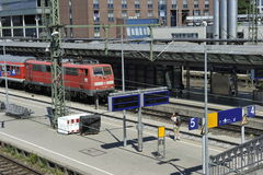 Freiburg Railway Station, Germany Royalty Free Stock Photography