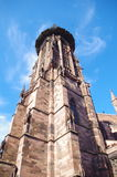 Freiburg - Tower of the Munster (Cathedral) Royalty Free Stock Photo